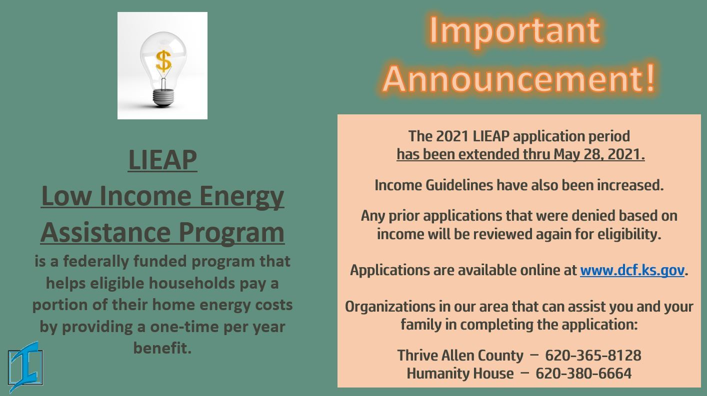 LIEAP Announcement