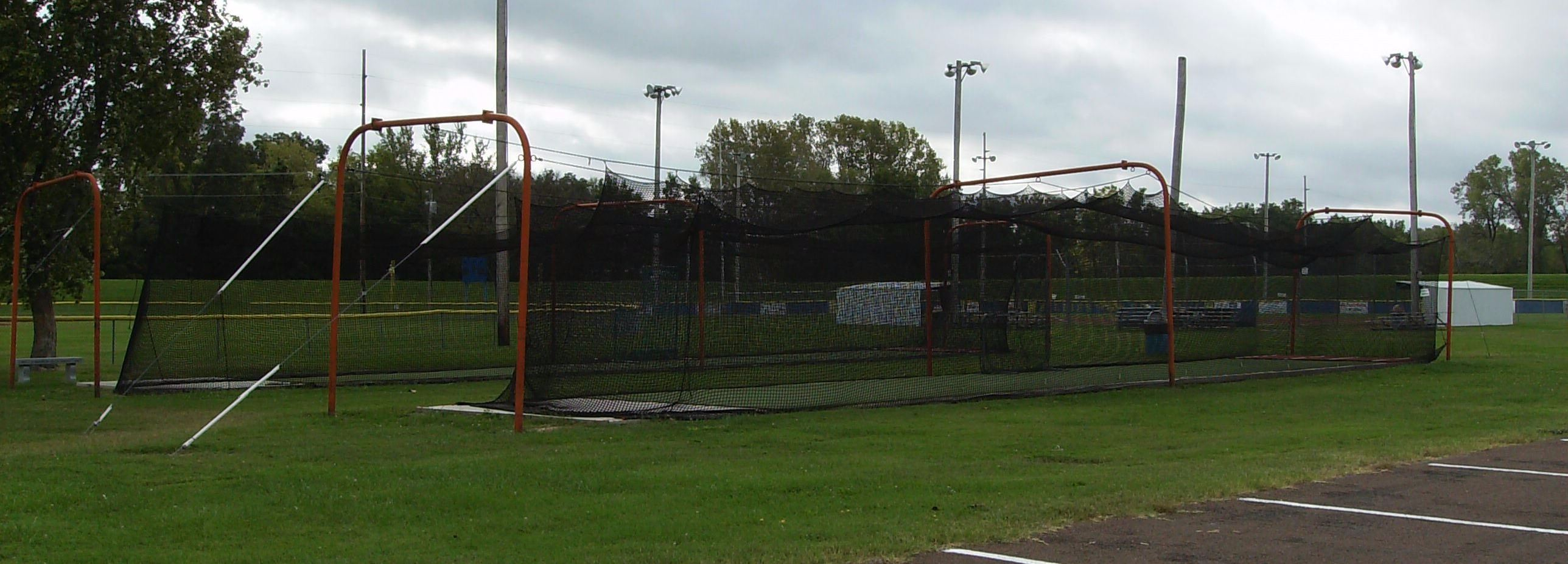 Batting Cages Located at Riverside Park