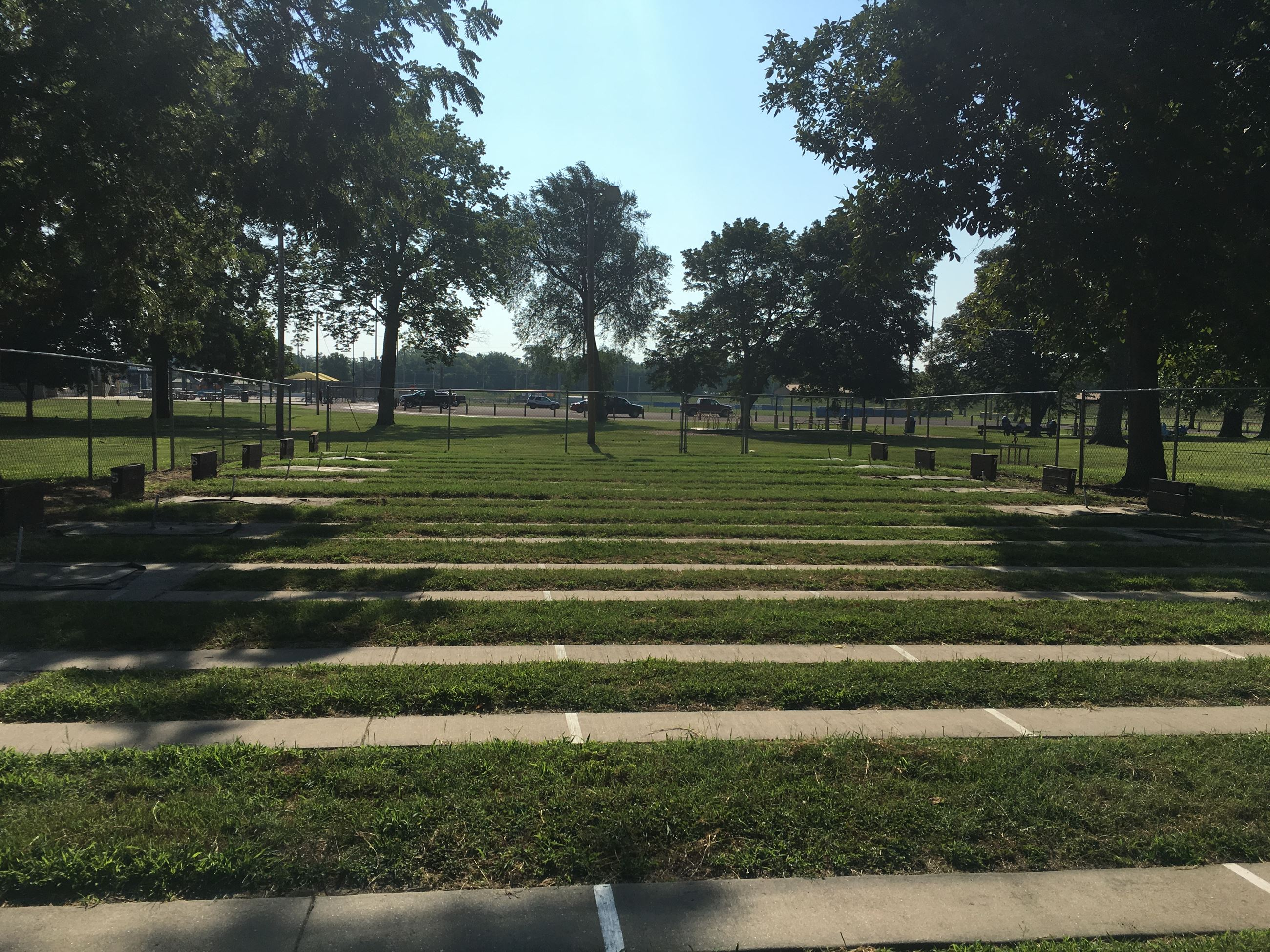 Horseshoe Pits Located at Riverside Park