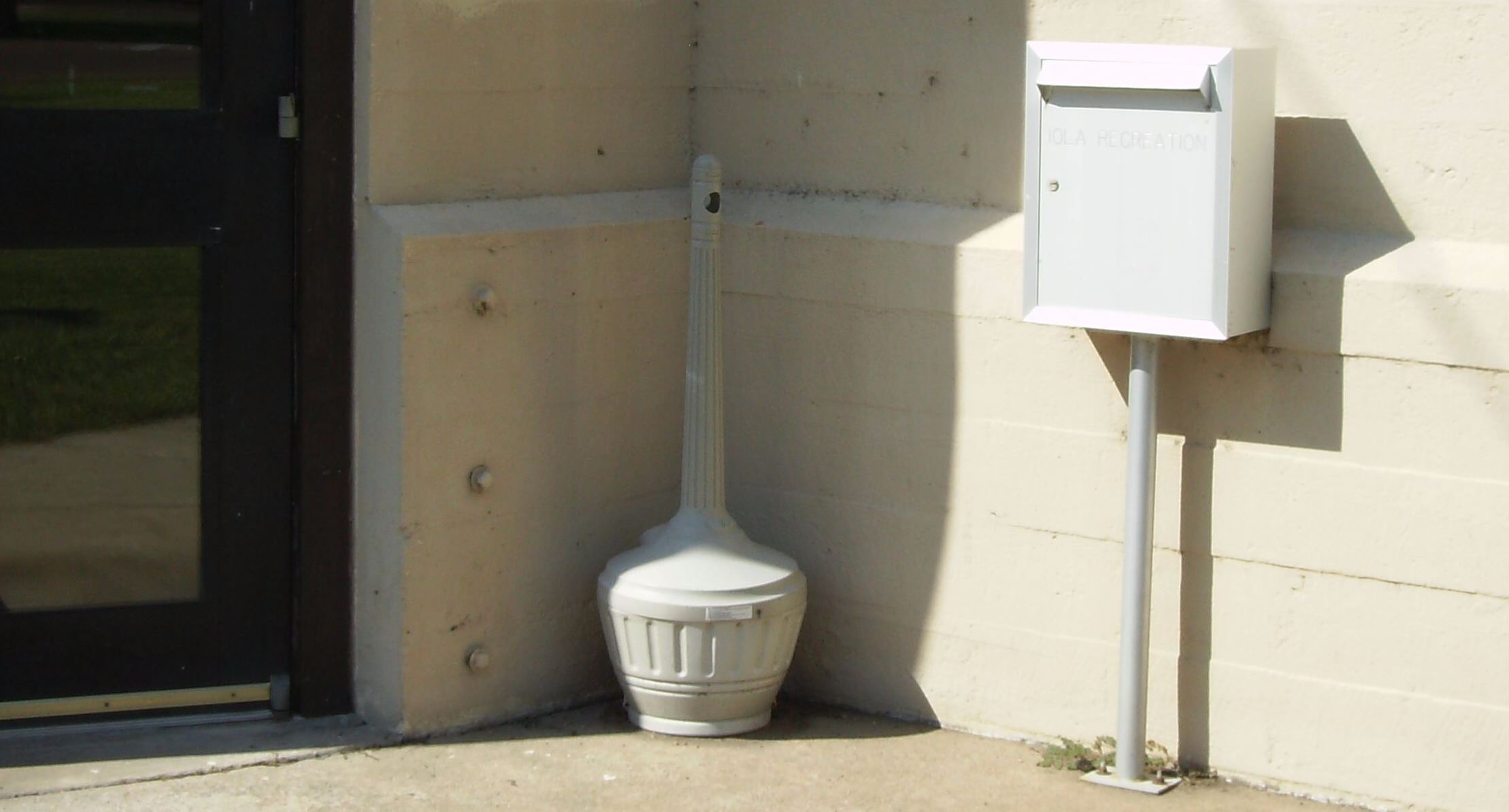 Recreation Building drop box located on the southeast side of the building